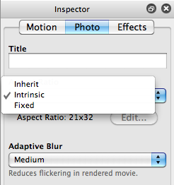 Aspect ratio inspector